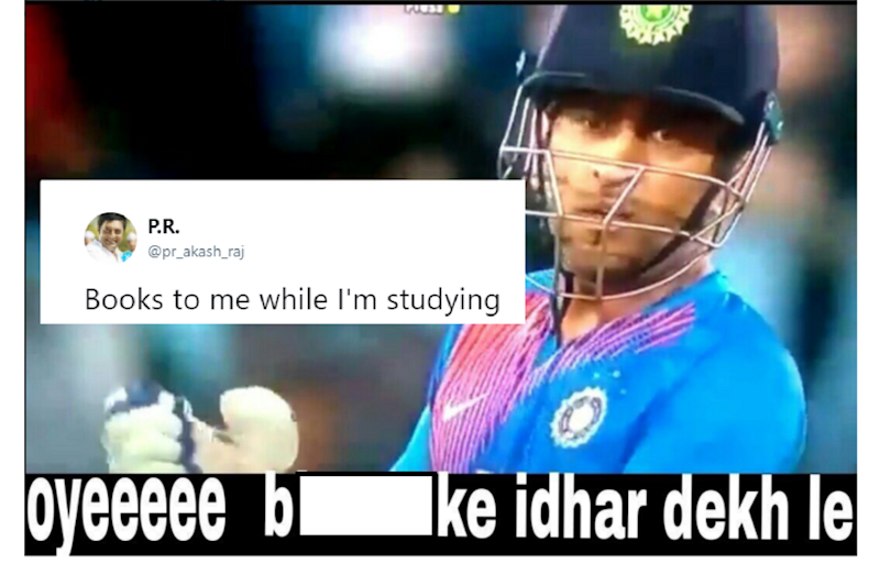 Dhoni Abusing Manish Pandey During T20 Match is Now an Internet Meme