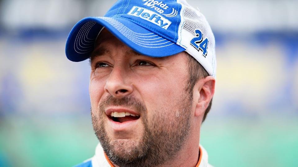 Eric McClure (pictured) before a NASCAR race.