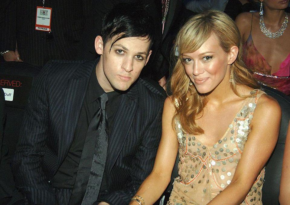 """<p>Hilary was 16 when she first started dating the Good Charlotte band member, breaking up three years later. She later told <a href=""""http://www.cosmopolitan.com/entertainment/celebs/a37011/hilary-duff-april-2015/"""" rel=""""nofollow noopener"""" target=""""_blank"""" data-ylk=""""slk:Cosmopolitan"""" class=""""link rapid-noclick-resp"""">Cosmopolitan</a> in 2015, """"I had a 26-year-old boyfriend. So everyone can make their own assumptions about what I was doing.""""</p>"""