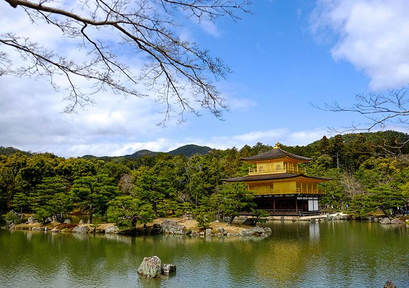 If you are into Japanese history, Kyoto is the place to visit. This is the Golden Pavilion.
