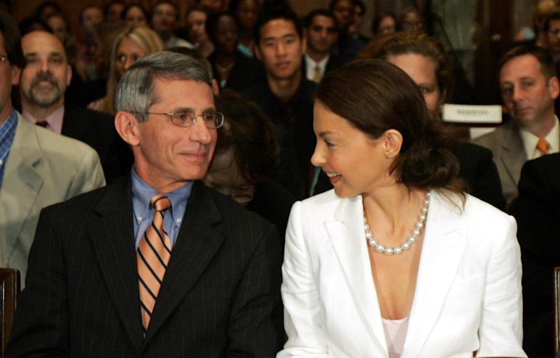 Anthony Fauci with Ashley Judd