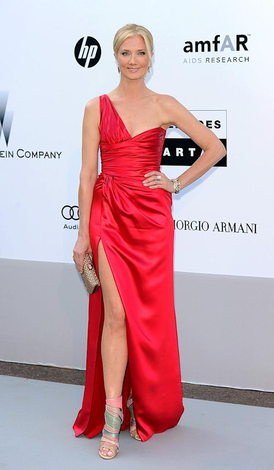 """The Tudors"" actress Joely Richardson wowed the crowd in a daring red Valentino number featuring a thigh-high slit. Venturelli/<a href=""http://www.wireimage.com"" target=""new"">WireImage.com</a> - May 20, 2010"