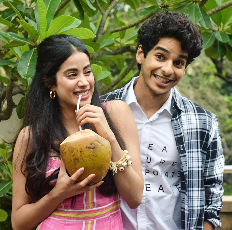 <p>Janhvi Kapoor and Ishaan Khattar at their goofiest best </p>