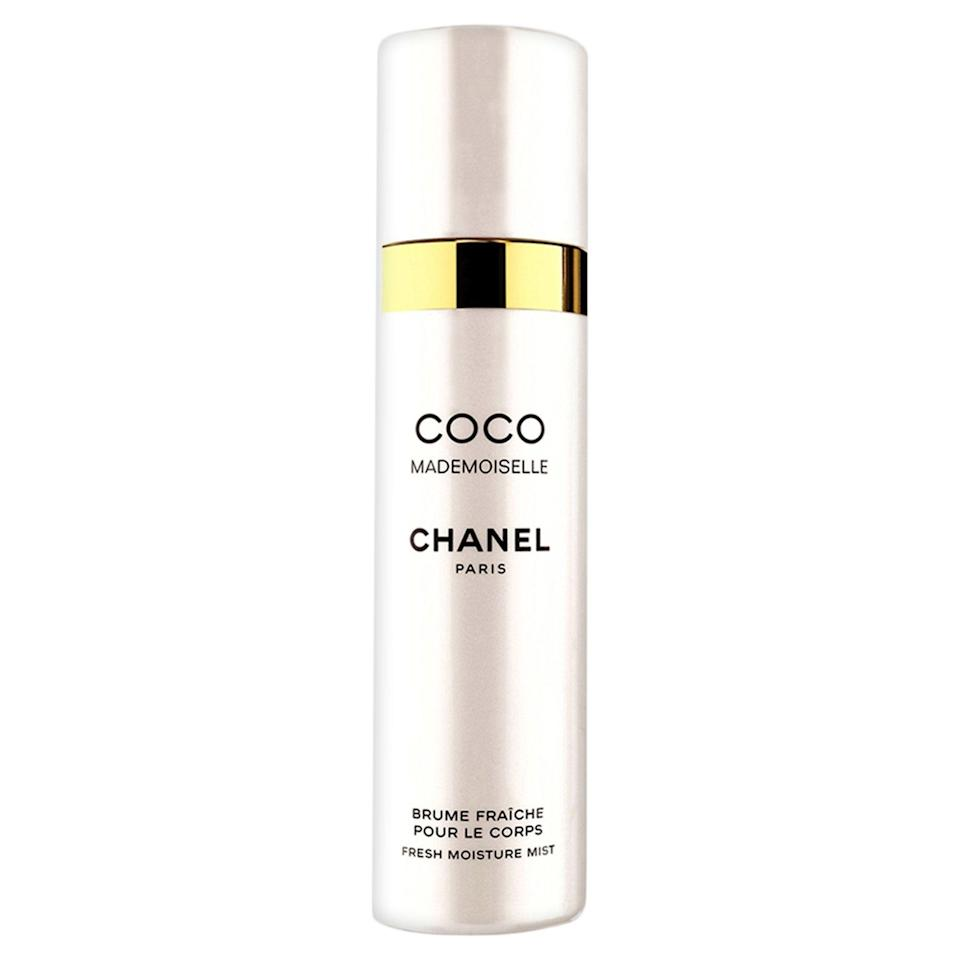 """<p>This lightly fragranced body mist will make you feel fancier than Marie Antoinette.</p><p><strong>Chanel</strong> Coco Mademoiselle Fresh Moisture Mist, $60, available at <a href=""""http://www.sephora.com/coco-mademoiselle-fresh-moisture-mist-P419407?skuId=1951284&icid2=just%20arrived:p419407"""" rel=""""nofollow noopener"""" target=""""_blank"""" data-ylk=""""slk:Sephora"""" class=""""link rapid-noclick-resp"""">Sephora</a>.</p>"""