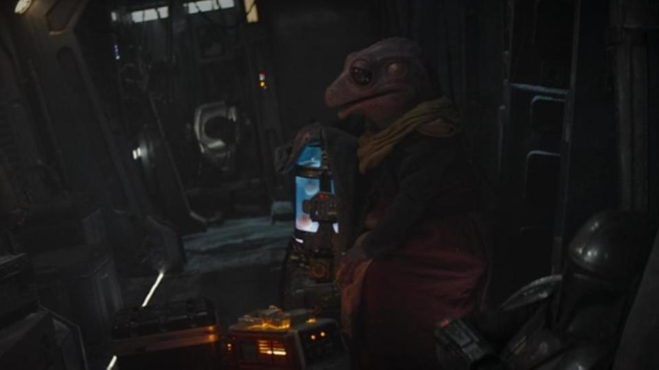 """<p> <strong>Episode 2</strong> </p> <p> Mando is tasked with helping a Frog Lady ferry her cargo (her eggs, gross) across the star system. Their destination? A moon called Trask. It's actually a new Star Wars location – which is cool in and of itself – but the name """"Trask"""" has ties to other figures in the franchise. </p> <p> Trask is the name of multiple characters in the now non-canon Legends series of stories, while the only current canon recipient of the name Trask is hidden away in RPG board game Lead by Example. There, Trask was a sergeant in the Rebel Alliance. </p>"""
