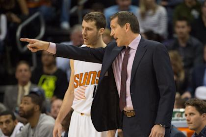 Can Goran Dragic (left), Jeff Hornacek and company hold onto their playoff spot? (Kyle Terada-USA TODAY Sports)