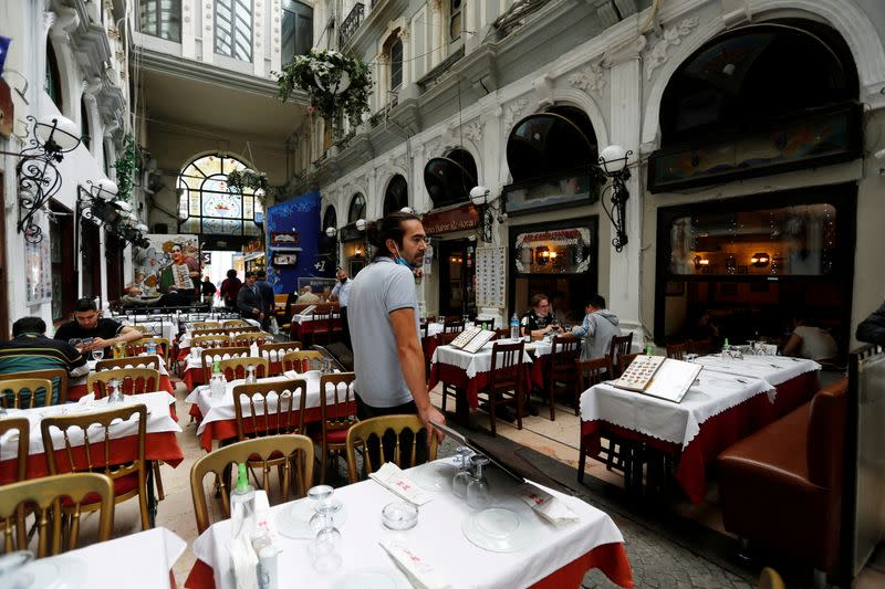 FILE PHOTO: COVID-19 restrictions on restaurants and cafes are eased in Istanbul