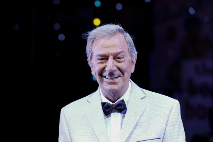 "Des O'Connor in ""Dreamboats and Petticoats"" at the Playhouse Theatre in London. (Photo by robbie jack/Corbis via Getty Images)"