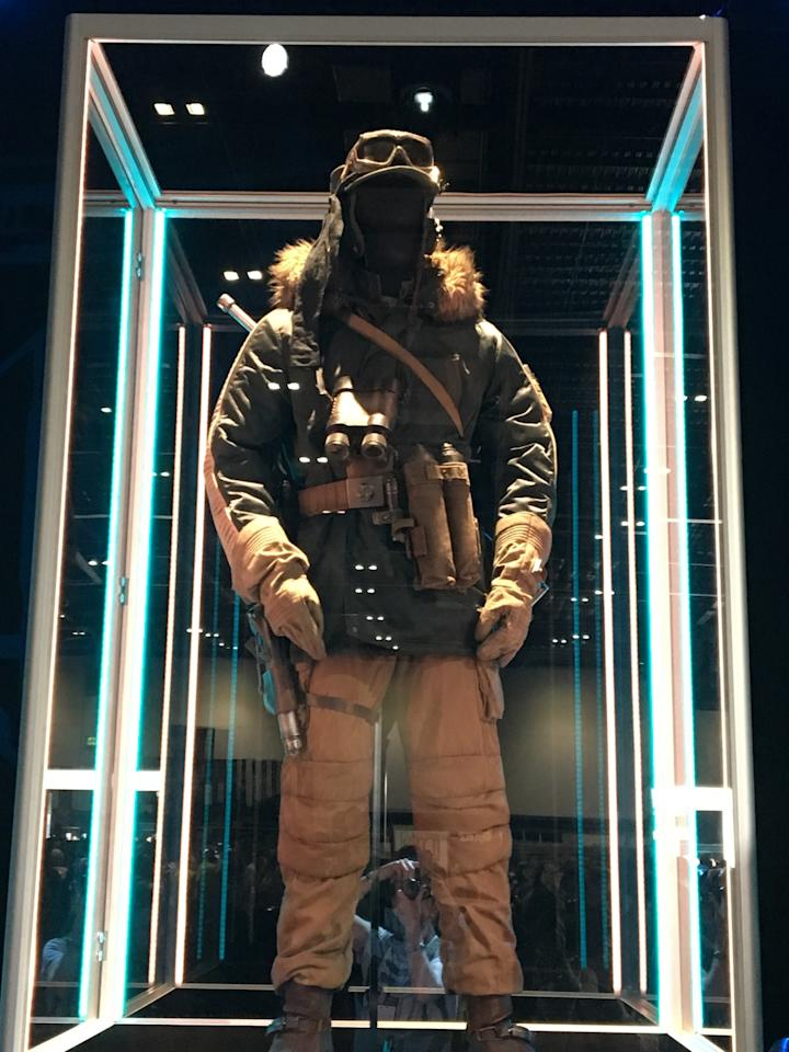 "<p>Erso will take on the Empire alongside Andor (Diego Luna), who is said to ""keep a cool head under fire and complete his missions with minimal resources."" He also completes them in this sweet parka.</p>"
