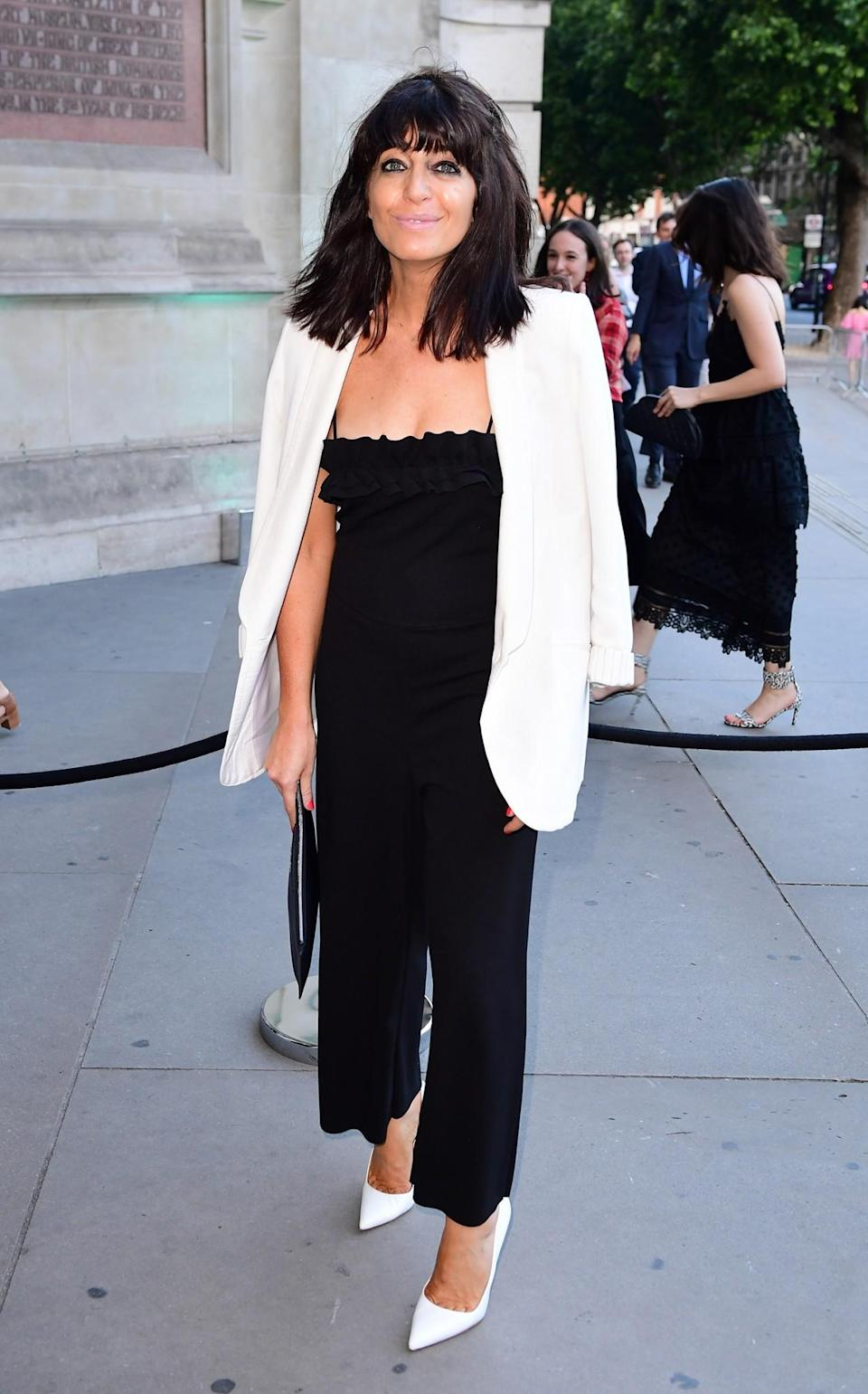 <p>The 'Strictly Come Dancing' presenter played in safe in a monochrome ensemble. But we reckon the brunette could've looked a little more summery – and less corporate – on the hottest day of the year. <br><em>[Photo: PA]</em> </p>