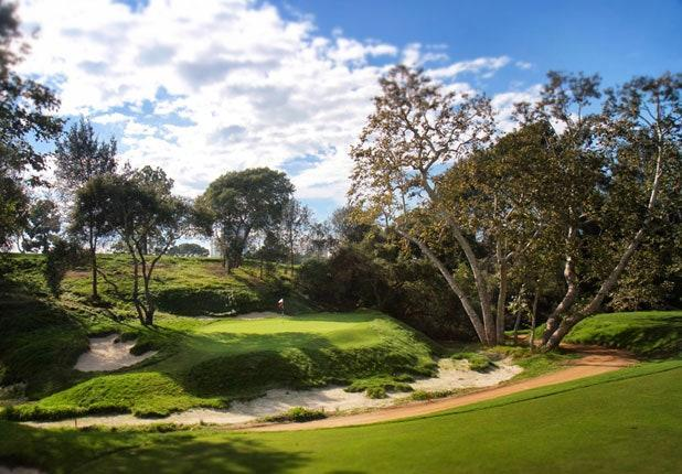 "<p>The Little 17th: Bye hole, 121 yards</p> <p>When Herbert Fowler designed and George C. Thomas Jr. built the North Course at LACC in 1921, they seemed inspired by the Postage Stamp in the design of the 17th, a 120-yarder playing over a wash to a double-level green recessed into the base of a hill. It was notorious. One writer called it a ""trying short hole"" surrounded by ""dire trouble."" Rival designer Robert Hunter wrote, ""The slope on this green is too pronounced."" When Thomas remodeled the North in 1928, he scrapped the hole in favor of a new par-3 15th. (His new 17th became a par 4.) Ninety years later Gil Hanse, Jim Wagner and Geoff Shackelford rebuilt L.A. North to recapture Thomas' flair. They also reclaimed the old 17th, now positioned as a betting hole between the 17th green and 18th tee.</p>"