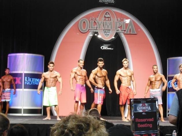 Adrian Tan (in green shorts) is the only Singaporean to ever step up onto the Olympia stage. (Adrian Tan Photo)