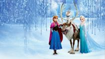"""<p>disneyplus.com</p><p><a href=""""https://go.redirectingat.com?id=74968X1596630&url=https%3A%2F%2Fwww.disneyplus.com%2Fmovies%2Ffrozen%2F4uKGzAJi3ROz&sref=https%3A%2F%2Fwww.redbookmag.com%2Flife%2Fg34929170%2Fbest-disney-movie1%2F"""" rel=""""nofollow noopener"""" target=""""_blank"""" data-ylk=""""slk:WATCH NOW"""" class=""""link rapid-noclick-resp"""">WATCH NOW</a></p><p>For the sake of all children born in the 2010s, including <em>Frozen</em> on this list is a must. Based loosely on the Hans Christian Andersen fairytale <em>The Snow Queen</em>, <em>Frozen</em> tells the story of Princess Anna trying to free her kingdom from the icy grip of her sister, Queen Elsa. It became the highest grossing animated movie of all time with $1.28 billion worldwide, until its 2019 follow-up <em>Frozen 2</em> unseated it with $1.32 billion in global sales. You can argue that the sequel is just as good, but nobody can deny that the movie that brought us the song """"Let It Go"""" deserves a spot among Disney's best.</p>"""