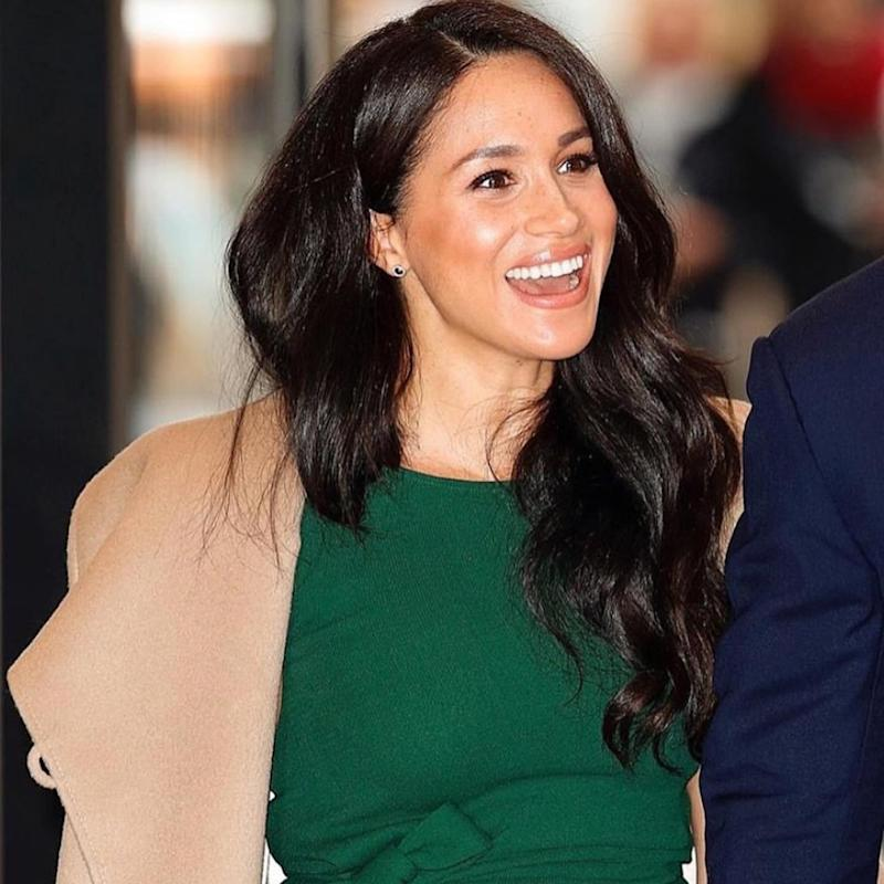 Meghan Markle's in the Hera earrings on October 15, 2019. (Credit: Getty)