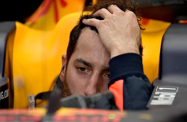 Red Bull's Daniel Ricciardo during a practice session on March 24, 2017, ahead of the Australian Grand Prix in Melbourne (AFP Photo/SAEED KHAN)