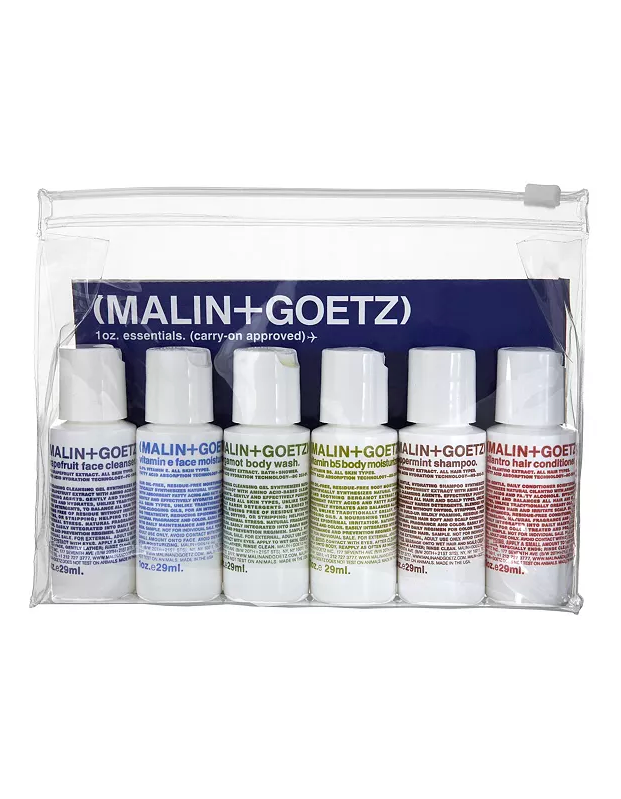 "Travel might be on hold, but this carry-on friendly kit from gender-neutral brand Malin + Goetz will convince your boo to dip their toes in the wonderful world of skin care. $32, Bloomingdale's. <a href=""https://www.bloomingdales.com/shop/product/malingoetz-carry-on-essentials-kit?ID=307159"" rel=""nofollow noopener"" target=""_blank"" data-ylk=""slk:Get it now!"" class=""link rapid-noclick-resp"">Get it now!</a>"