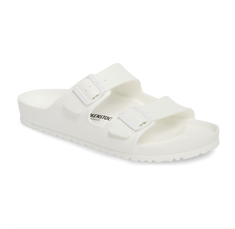"<p><strong>BIRKENSTOCK</strong></p><p>nordstrom.com</p><p><strong>$44.95</strong></p><p><a href=""https://go.redirectingat.com?id=74968X1596630&url=https%3A%2F%2Fshop.nordstrom.com%2Fs%2Fbirkenstock-essentials-arizona-eva-waterproof-slide-sandal-men%2F3849422&sref=https%3A%2F%2Fwww.prevention.com%2Flife%2Fg27288061%2Ffathers-day-gift-ideas%2F"" rel=""nofollow noopener"" target=""_blank"" data-ylk=""slk:Shop Now"" class=""link rapid-noclick-resp"">Shop Now</a></p><p>Dad's pool slides have probably seen better days. Replace his old pair with these timeless, waterproof slides from Birkenstock, which are just as stylish and comfy as their leather counterparts, but at a fraction of the price.</p>"