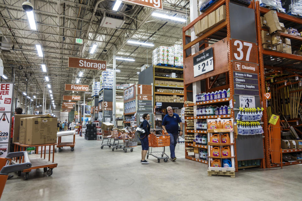 Florida, Miami Beach, Home Depot Store Interior. (Photo by: Jeffrey Greenberg/Universal Images Group via Getty Images)