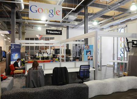 Major technology companies like Google and BlackBerry provide mentoring services to companies within Communitech in Kitchener's historic Tannery District in Kitchener