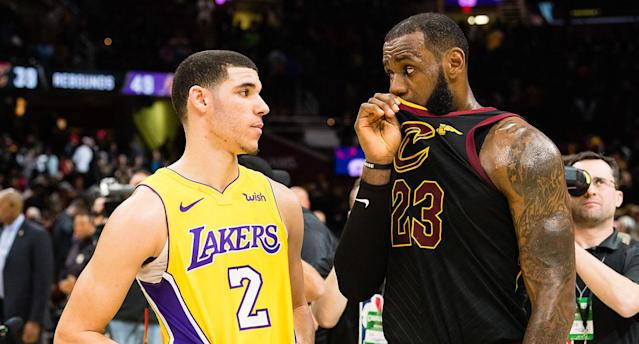 LeBron James' decision to join the Lakers puts him on another exclusive list: megastars to play for three franchises. (Getty Images)