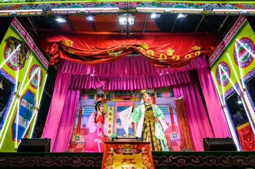 The number of traditional Chinese opera troupes touring Thailand, peforming on makeshift stages, has fallen sharply in recent year