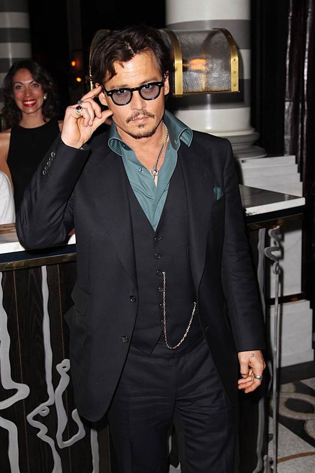 "Johnny Depp turns 48 Dave Hogan/<a href=""http://www.gettyimages.com/"" target=""new"">GettyImages.com</a> - May 12, 2011"