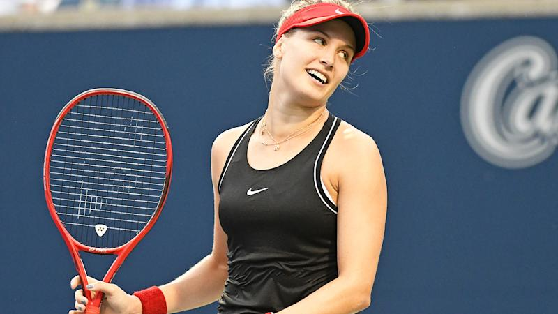 Eugenie Bouchard, pictured here in action at the WTA Rogers Cup in August.