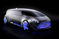 """<p>Mercedes calls the five-seat electric van a """"a chill-out zone in the midst of megacity traffic mayhem"""" that """"reflects the growing youthfulness"""" of Mercedes. And in Japan, where vans of many shapes and sizes rule the highways, the overall shape isn't so far out — although the panoramic sweeping windshield has more in common with speedboats than cars.<br></p>"""