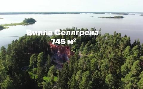 <span>Aerial picture of Villa Selgen Grab from a video released by Russian opposition leader Alexei Navalny</span>