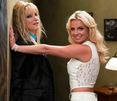"Brittany (Heather Morris) and Britney Spears on the ""Glee"" set. Photo courtesy of Britney's Twitpic -- Britney Spears/Twitpic"