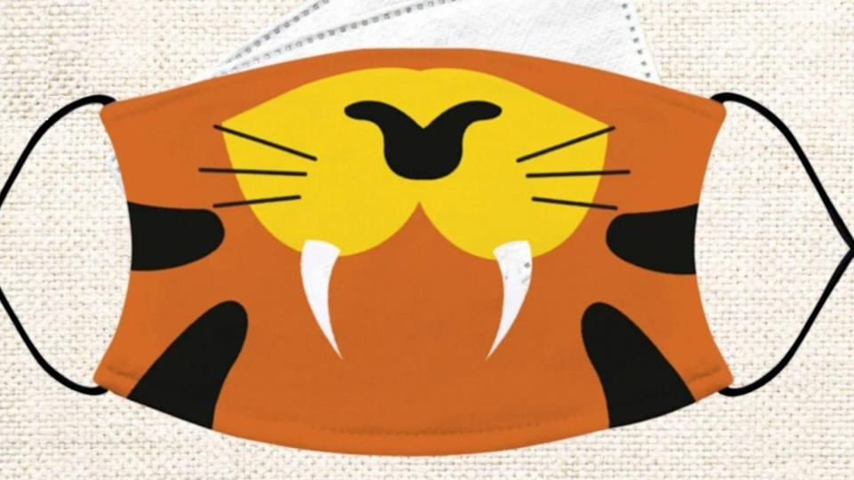 This sharp-toothed tiger will make for a ferocious Halloween.