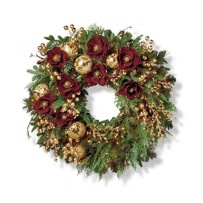 "<p><strong></strong></p><p>frontgate.com</p><p><strong>$386.00</strong></p><p><a rel=""nofollow"" href=""https://www.frontgate.com/grand-regency-cordless-32-22-indoor-wreath/holiday-decor/wreaths-garlands/christmas-wreaths/1183951"">Shop Now</a></p><p>This easy cordless wreath brings elegant pops of red and gold to your door decor. </p>"