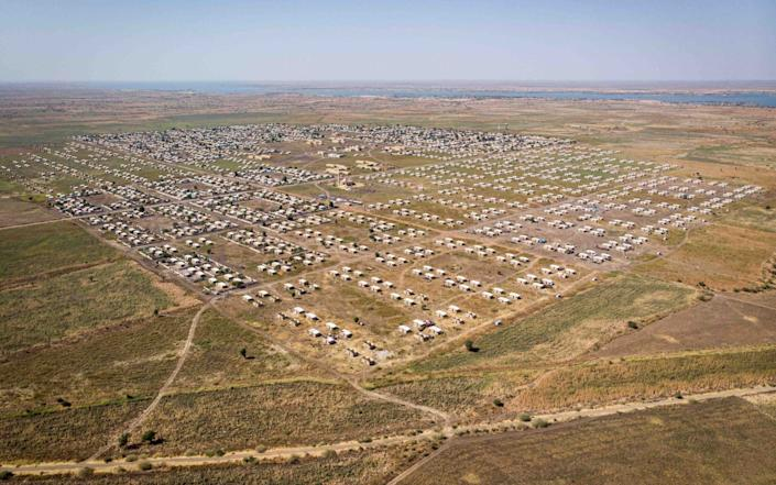 An aerial view of the refugee camp - Joost Bastmeijer