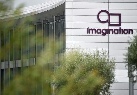 The headquarters of technology company Imagination Technologies is seen on the outskirts of London