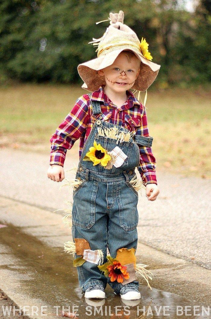 """<p>A last-minute scarecrow costume is especially easy to pull off if you already have a flannel shirt and overalls. Just add a few patches, some straw, and a floppy hat. </p><p><strong>Get the tutorial at <a href=""""https://www.wherethesmileshavebeen.com/diy-scarecrow-costume/"""" rel=""""nofollow noopener"""" target=""""_blank"""" data-ylk=""""slk:Where the Smiles Have Been"""" class=""""link rapid-noclick-resp"""">Where the Smiles Have Been</a>. </strong> </p><p><a class=""""link rapid-noclick-resp"""" href=""""https://www.amazon.com/Kinwell-Artificial-Sunflower-Decoration-Wedding/dp/B0727WNB68/ref=sr_1_8?tag=syn-yahoo-20&ascsubtag=%5Bartid%7C10050.g.28190286%5Bsrc%7Cyahoo-us"""" rel=""""nofollow noopener"""" target=""""_blank"""" data-ylk=""""slk:SHOP SILK SUNFLOWERS"""">SHOP SILK SUNFLOWERS</a> </p>"""