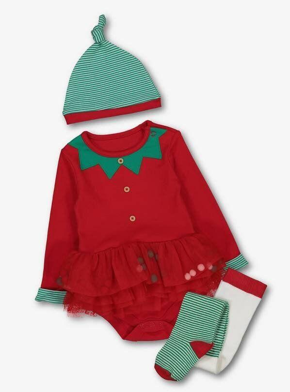 Christmas Elf Red Tutu Bodysuit Set (Photo: StyleShoots/Argos)
