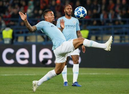 Soccer Football - Champions League - Group Stage - Group F - Shakhtar Donetsk v Manchester City - Metalist Stadium, Kharkiv, Ukraine - October 23, 2018  Manchester City's Gabriel Jesus in action   REUTERS/Gleb Garanich