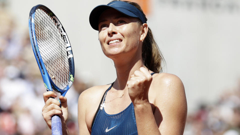 Maria Sharapova, pictured here in action at the 2018 French Open.