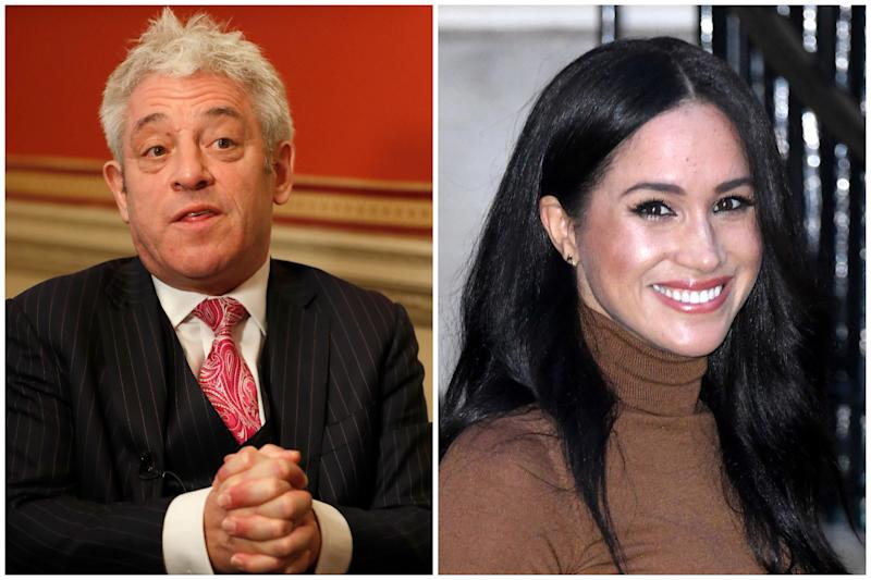 John Bercow and Meghan Markle (AP/PA)