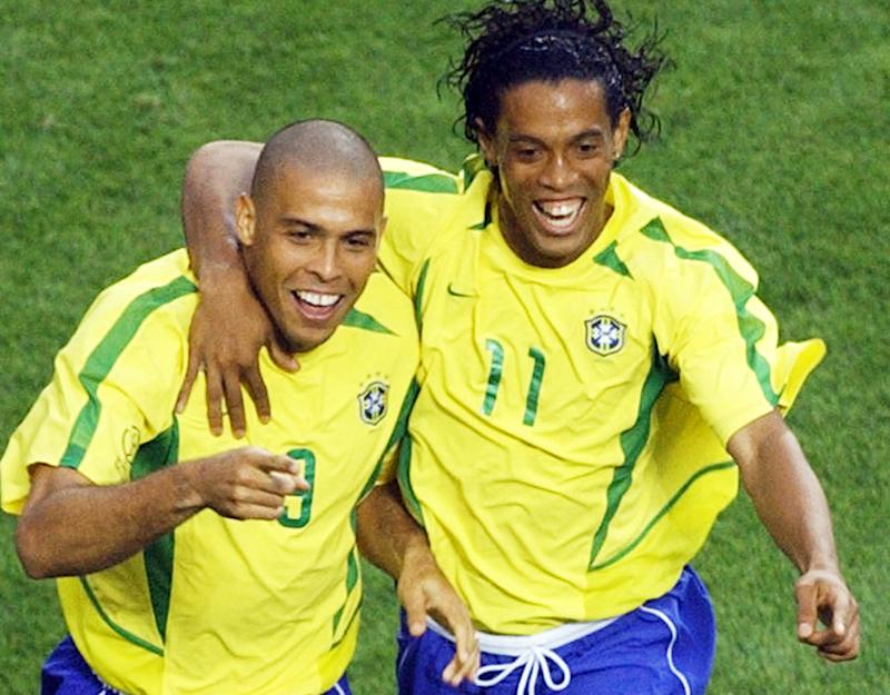 Ronaldo and Ronaldinho, pictured here at the 2002 FIFA World Cup.