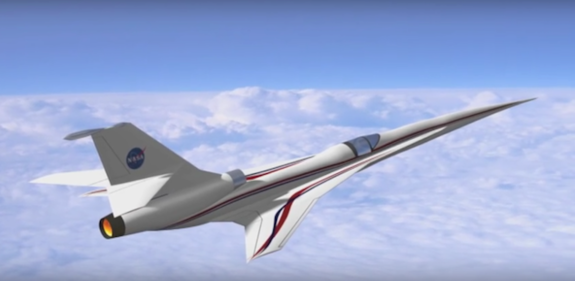 NASA is working with partners in the aviation industry to design new supersonic aircraft, like this concept plane, that generate softer sonic booms.