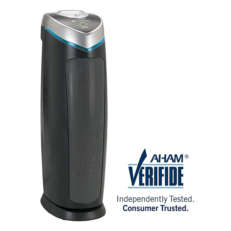 "<p>Don't forget to give your air a refresh too with this popular <a href=""https://www.popsugar.com/buy/Germ-Guardian-True-HEPA-Filter-Air-Purifier-548277?p_name=Germ%20Guardian%20True%20HEPA%20Filter%20Air%20Purifier&retailer=amazon.com&pid=548277&price=85&evar1=casa%3Aus&evar9=47209032&evar98=https%3A%2F%2Fwww.popsugar.com%2Fhome%2Fphoto-gallery%2F47209032%2Fimage%2F47209439%2FGerm-Guardian-True-HEPA-Filter-Air-Purifier&list1=shopping%2Camazon%2Corganization%2Cspring%20cleaning%2Chome%20organization&prop13=api&pdata=1"" rel=""nofollow"" data-shoppable-link=""1"" target=""_blank"" class=""ga-track"" data-ga-category=""Related"" data-ga-label=""https://www.amazon.com/GermGuardian-AC4825-Sanitizer-Allergens-Guardian/dp/B004VGIGVY/ref=sxin_3_osp99-250eeb1e_cov?ascsubtag=250eeb1e-df30-4376-a854-ac4ab8eaca5e&amp;creativeASIN=B004VGIGVY&amp;crid=21XO16E3J380M&amp;cv_ct_cx=air+purifier&amp;cv_ct_id=amzn1.osp.250eeb1e-df30-4376-a854-ac4ab8eaca5e&amp;cv_ct_pg=search&amp;cv_ct_wn=osp-search&amp;keywords=air+purifier&amp;linkCode=oas&amp;pd_rd_i=B004VGIGVY&amp;pd_rd_r=1368a672-d3ab-49bd-a0f6-e9f90c67f77b&amp;pd_rd_w=CFGk3&amp;pd_rd_wg=RQ66m&amp;pf_rd_p=eb3e5cda-5ec9-4d94-919d-310a5d641b8b&amp;pf_rd_r=NRWC8BYV58QF3ZGTMX0Z&amp;qid=1581451633&amp;sprefix=air+purfi%2Caps%2C225&amp;sr=1-1-32a32192-7547-4d9b-b4f8-fe31bfe05040&amp;tag=gearpublish-20"" data-ga-action=""In-Line Links"">Germ Guardian True HEPA Filter Air Purifier</a> ($85, originally $150). It currently boasts over 13,000 reviews on Amazon making it one of the site's best choices.</p>"