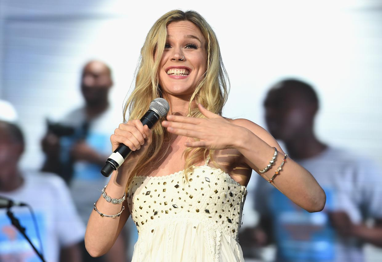 Joss Stone performing during a concert hosted by Prince Harry's charity Sentebale in Kensington Palace Gardens, London, to raise awareness and funds for adolescents living with HIV in sub-Saharan Africa.