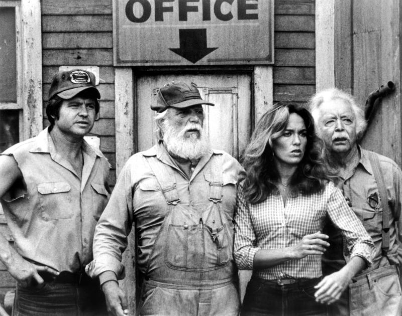 Jones, Denver Pyle and Catherine Bach in an episode of 'The Dukes of Hazzard' (Photo: Warner Bros./Courtesy Everett Collection)