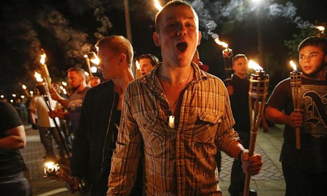 "<span class=""element-image__caption"">Members of RAM were present at the far-right marches in Charlottesville in 2017.</span> <span class=""element-image__credit"">Photograph: Mykal McEldowney/AP</span>"