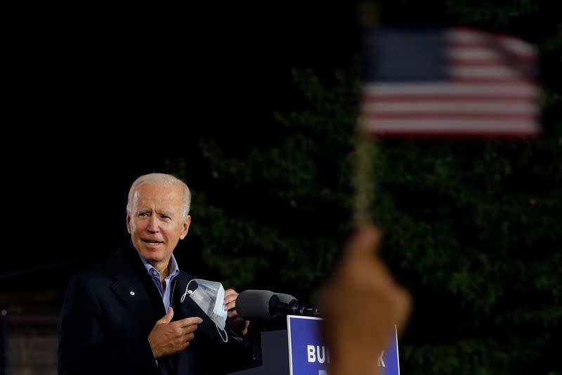 U.S. Democratic presidential candidate and former Vice President Joe Biden campaigns in Johnstown