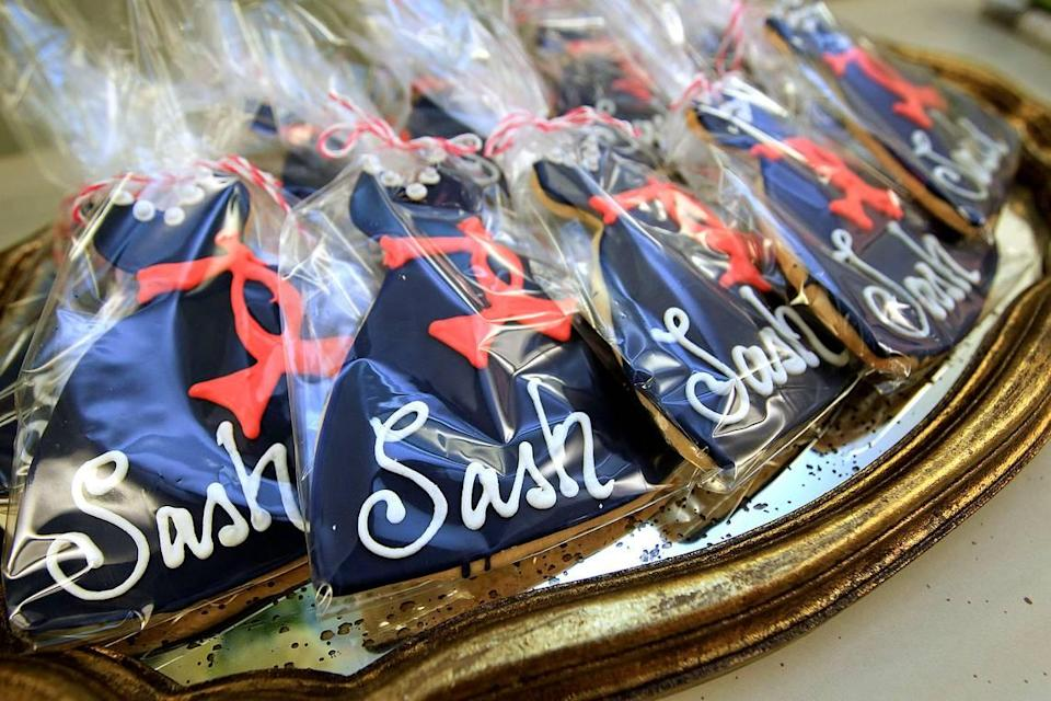File photo: Ally & Eloise Bake Shop prepared dressed up cookies for the grand opening of Sash Bridesmaid Boutique on Holly St. in Columbia