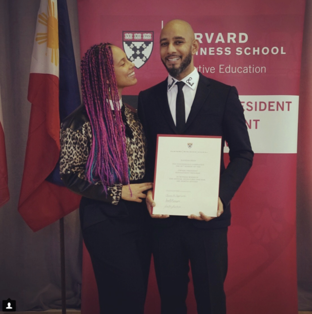 "<p>""When your hubby graduates from Harvard Business School and you can't stop looking at him in amazement,"" the proud wife of Swizz Beatz captioned this shot of her man and his diploma. The music producer, who enrolled in 2014, finished his run at the school with a certificate from the Owner/President Management Program. (Photo: <a href=""https://www.instagram.com/p/BblCPHxlZTx/?taken-by=aliciakeys"" rel=""nofollow noopener"" target=""_blank"" data-ylk=""slk:Alicia Keys via Instagram"" class=""link rapid-noclick-resp"">Alicia Keys via Instagram</a>) </p>"