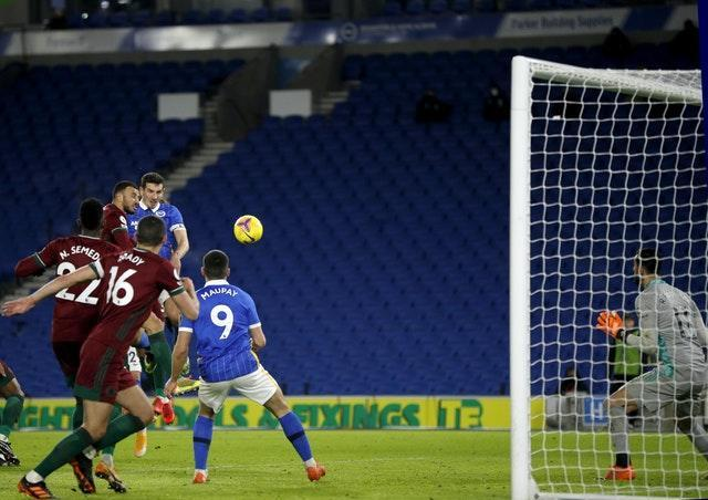 Lewis Dunk's header earned Brighton a point
