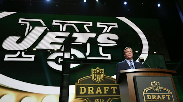 """<p>On Saturday, the Jets traded three second-round picks (two this year, one in 2019) to Indianapolis in order to move up from No. 6 to No. 3 in this year's draft. <a href=""""https://www.si.com/nfl/2018/03/17/new-york-jets-trade-indianapolis-colts-third-pick-sam-darnold-josh-rosen-baker-mayfield-josh-allen"""" rel=""""nofollow noopener"""" target=""""_blank"""" data-ylk=""""slk:The move"""" class=""""link rapid-noclick-resp"""">The move</a> raises two questions:</p><p><strong>1) Why trade up to No. 3 in particular?</strong></p><p>We've seen three teams move into the top two over the last two drafts, but the Jets are the first team in recent years to trade for the third slot. The obvious explanation is that trading higher was prohibitively costly. The Browns are expected to spend No. 1 on their favorite QB. As for the Giants at No. 2? The fact that the Jets didn't do business with their MetLife roommates tells me the Giants: A) Want to be in position to take <em>their </em>next franchise QB, (B) Think one of the other top prospects—most likely running back <strong>Saquon Barkley</strong>, guard <strong>Quenton Nelson</strong>, or defensive end <strong>Bradley Chubb</strong>—is a generational talent, or (C) Believe they can get an even better deal closer to the April 26 proceedings, which brings me to big question deux...</p><p><strong>2) </strong><strong>Why trade up now?</strong></p><p>Those three aforementioned trade-ups all took place within two weeks of draft day, but Jets GM <strong>Mike Maccagnan </strong>clearly had a sense of urgency this time around. With four marquee prospects available, demand simply outpaces supply, as the Browns, Giants, Jets, Bills, Broncos, and Cardinals all could have interest in a top passer. At the combine, a narrative developed that this year's crop might not actually live up to the expectations we had a year ago. But New York's move shows it thinks this draft has at least three worthy QBs—and that the team is not picky about which of those gambles <strong>Tod"""